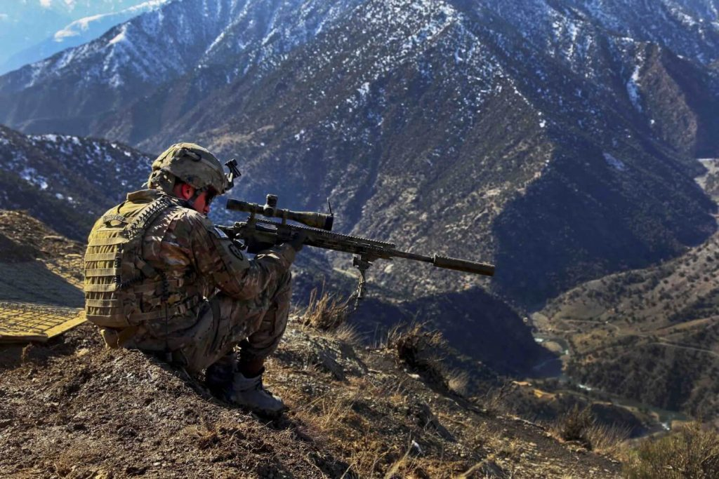 Army Sniper in Afghanistan