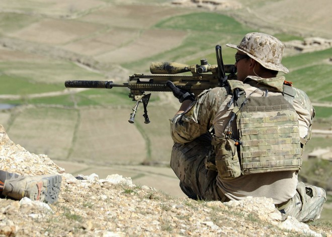Special Forces with a FN SCAR SSR in Afghanistan