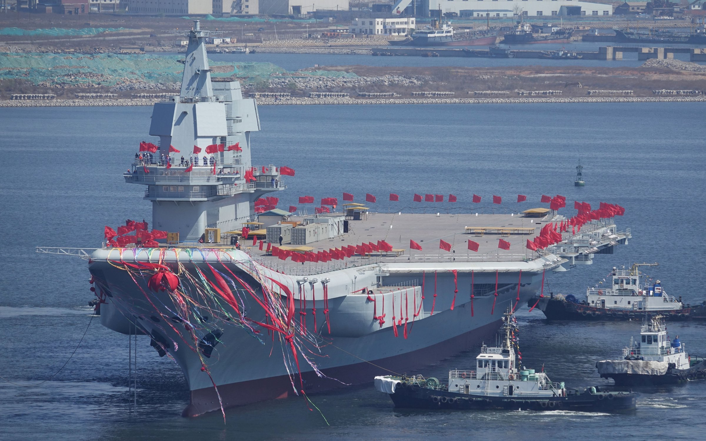 type 001A with flags