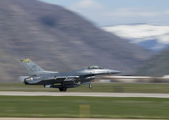 F-16 taking off Hill AFB April 2019