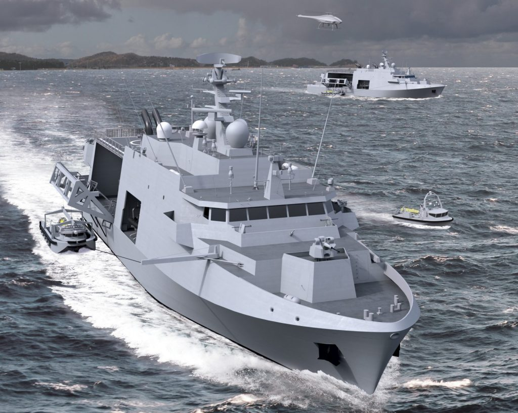 Render of the Mine Countermeasure Vessel (MCM) for the Belgian and Dutch navies by Belgium Naval and Logistics