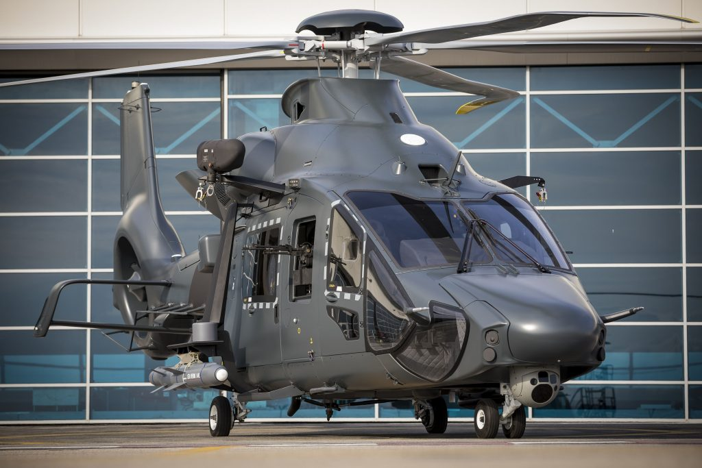 Mock-up of the Airbus H160M helicopter first revealed in May 2019