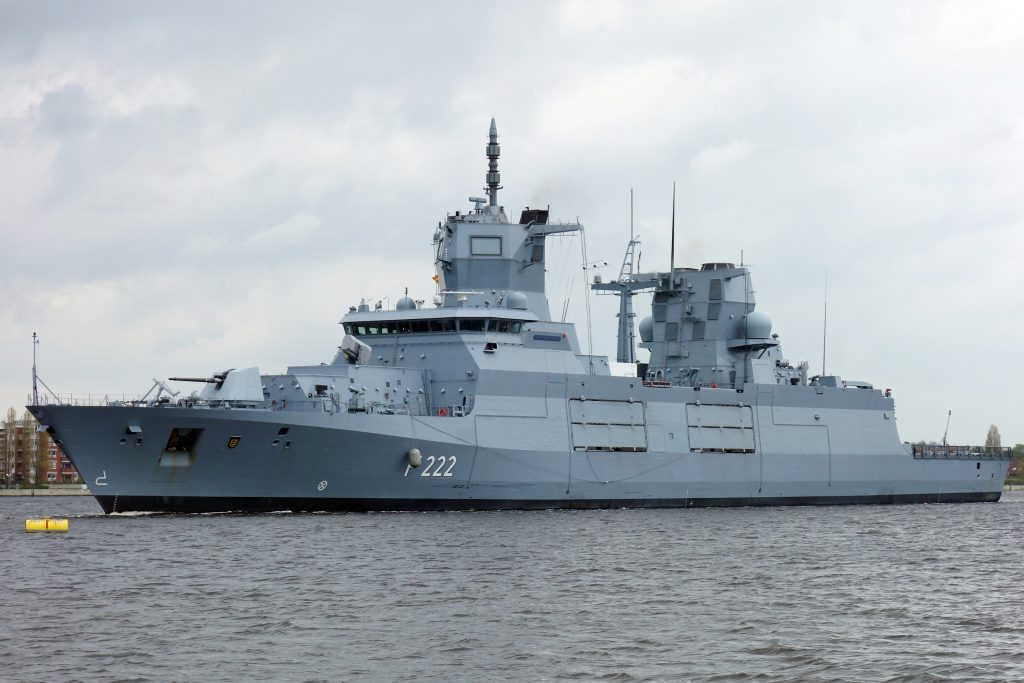 The F222 Baden-Württemberg photographed in April 2017 prior to commissioning (photo credit: Wikimedia Commons)