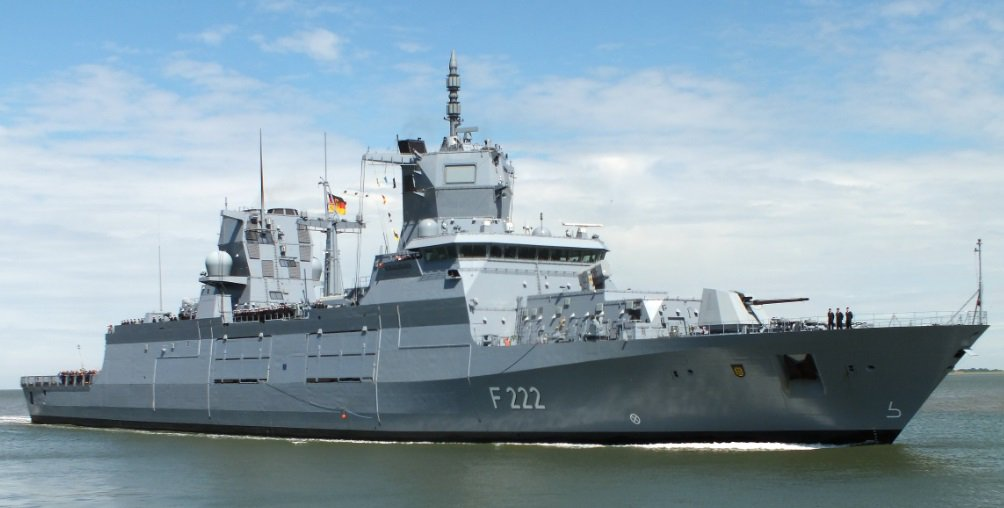 German Navy F125 Baden-Württemberg F222 at its commissioning ceremony 17 June 2019