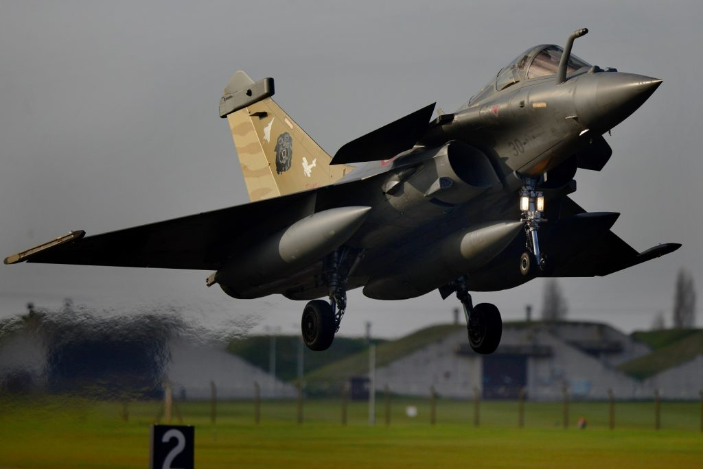 French Rafale lands at RAF Lakenheath in exercise POINTBLANK Nov 25 2018 USAF photo tech sgt Matthew Plew