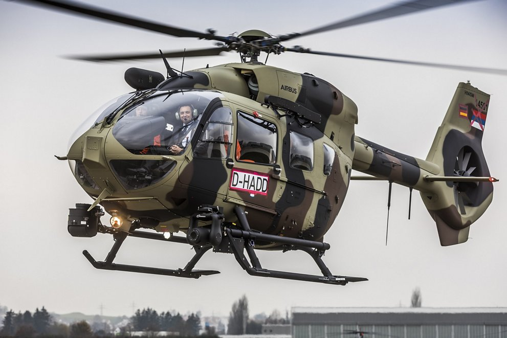 H145M with visible Serbian markings but German callsign en-route to delivery (photo courtesy of Airbus Helicopters)