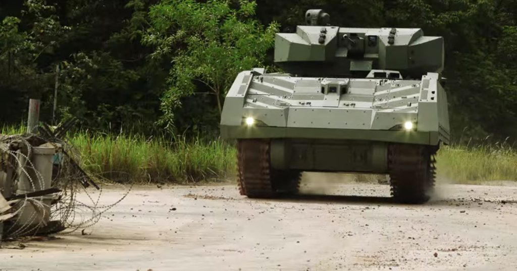 Screenshot of Singapore Army promotional video of the Hunter AFV (courtesy Singapore Ministry of Defence)