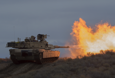 M1A2 Abrams Tanks from Idaho Army National Guard run through field exercises on Orchard Combat Training Center 2019-02-04 ID ANG Thomas Alvarez