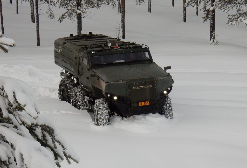 Protolab PMPV in snowy conditions (photo courtesy of Protolab on Twitter)