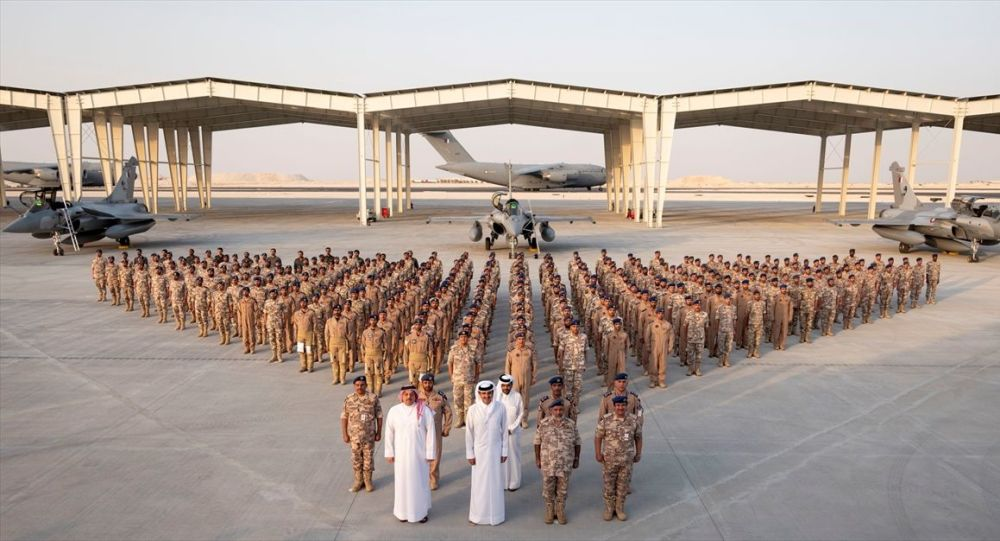 The first five aircraft ordered for the QEAF received by the Emir of Qatar during a ceremony at the newly completed Dukham Airbase 5 June 2019 source Qatar MoD