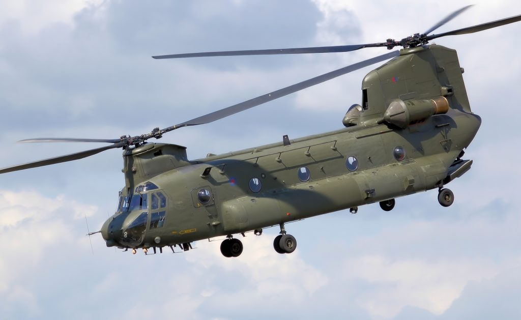 UK Royal Air Force Chinook HC2 - The use of UK Chinooks in the UN mission in Mali is making France consider procuring its own (photo courtesy of Adrian Pingstone on Wikimedia)