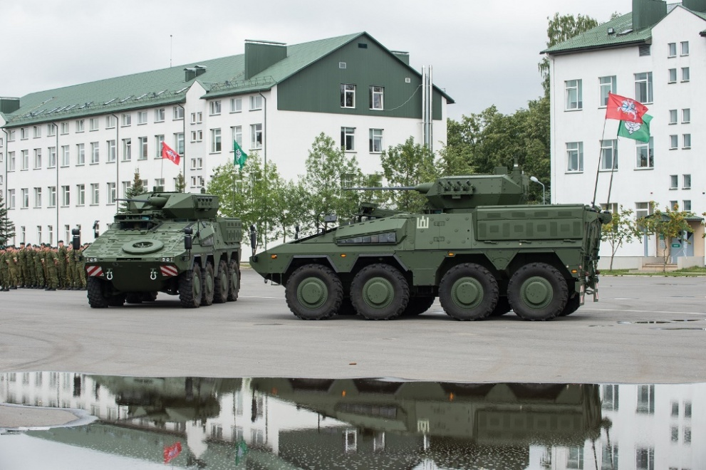 Two Boxer armored vehicles at their acceptance ceremony in Lithuania in June 2019 (photo courtesy of the Lithuanian Ministry of National Defense)