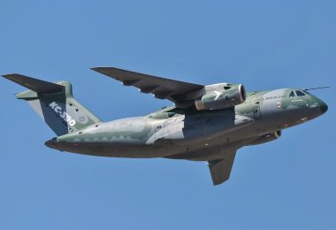 Embraer KC-390 in flight 2018 (photo courtesy of Wikimedia)