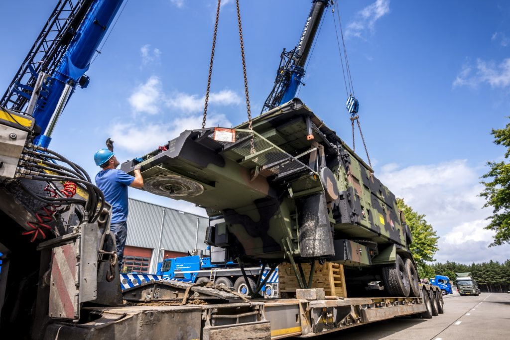 Royal Netherlands Army receives upgraded Patriot missile systems July 2019 (photo courtesy of the Netherlands Ministry of Defense)