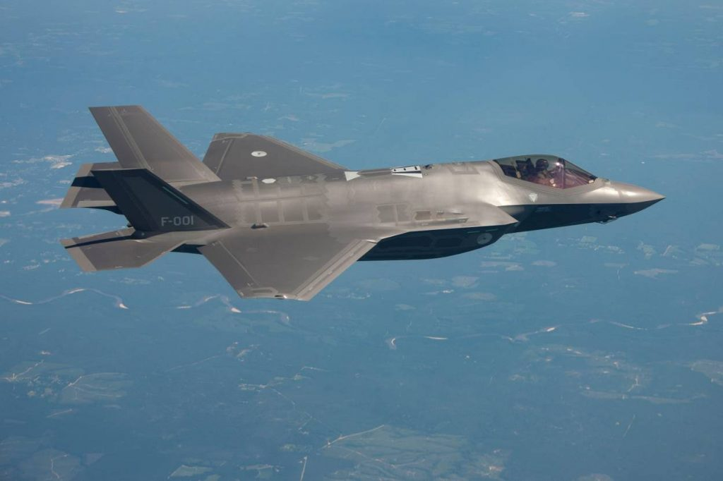 F-35 of the Royal Netherlands Air Force in-flight (photo courtesy of the Netherlands Ministry of Defense)