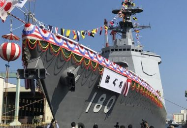 New Japanese Missile Defense Destroyer JS Haguro (DDG-180) Begins Sea Trials