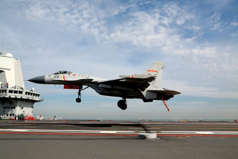 China's J-15 Fighters Make their Carrier Operation Debut on the CNS Shandong