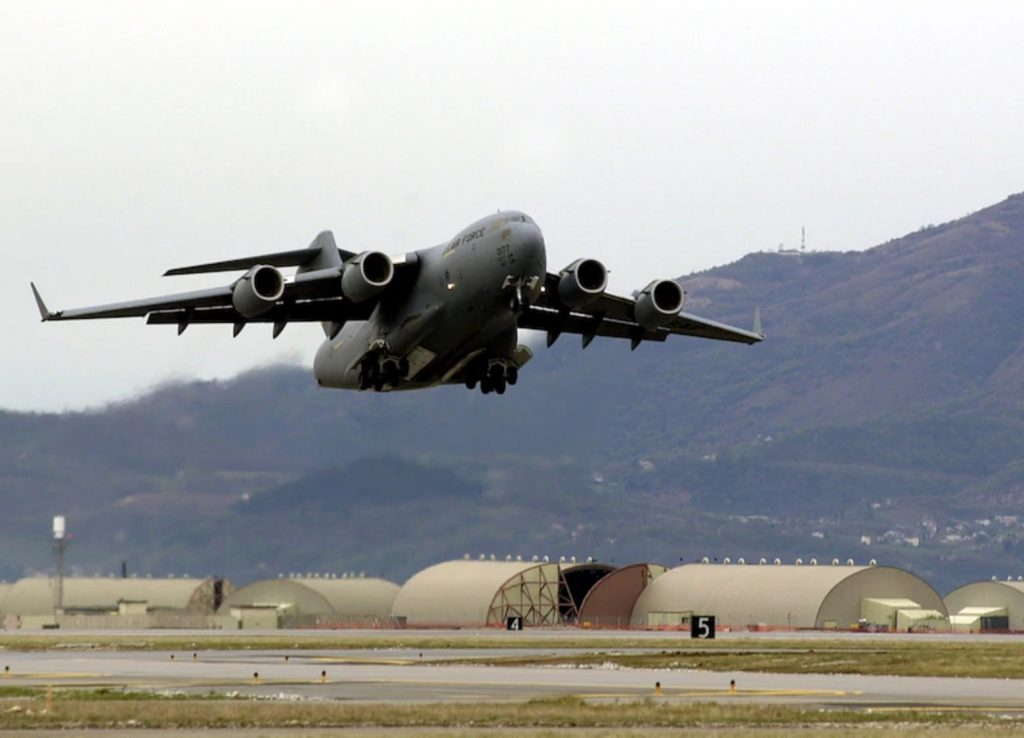 Humanitarian Aid Delivered to Beirut by U.S. Air Force C-17 Globemaster IIIs