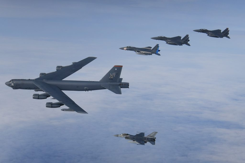 Bombers, Marine F-35s join Point Blank 20-4 exercise over the North Sea